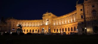 Austrian National Library By Night