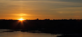 Sunset Over The Menai Straits