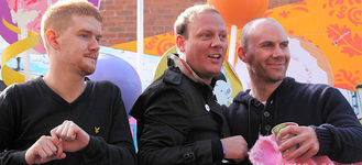 Manchester Pride 2011: Mikey North, Anthony Cotton & Will Thorp