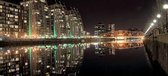 Salford Quays From The Lowry Bridge