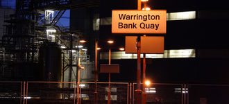 Warrington Bank Quay Station By Night